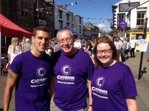 Volunteers from the Clitheroe Food Festival 2014